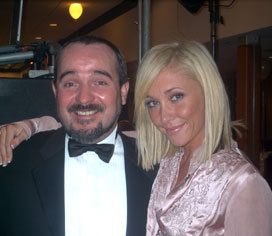 I have worked for a number of celebrities over the years and here you seem me with Jenny Frost from Atomic Kitten whilst performing at her sisters wedding.